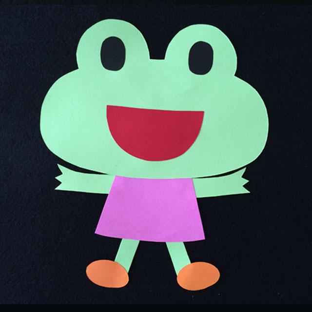 カエルの壁面装飾