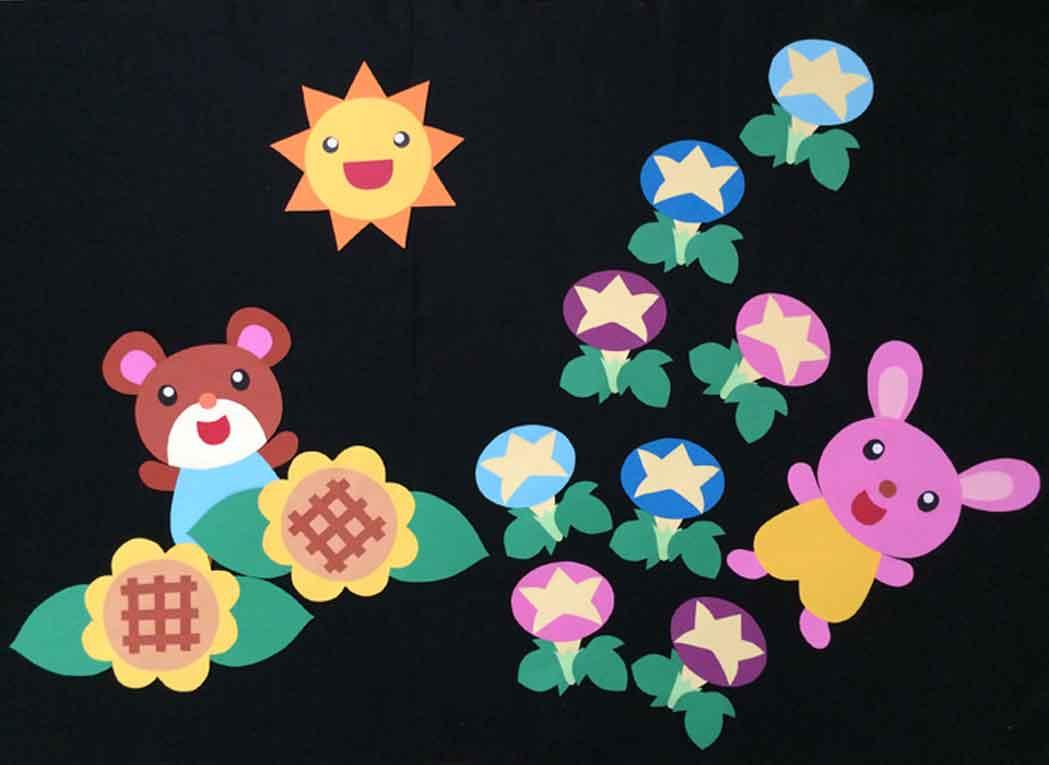夏の壁面装飾