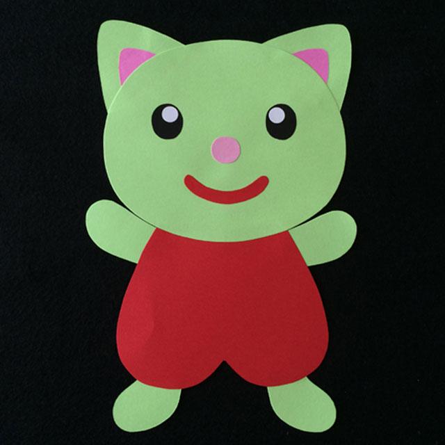 ネコの壁面装飾